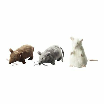 3 Ikea Gosig Mus Soft Mouse Mice Plush Toy Stuffed Animal Rat Party Favor Cat