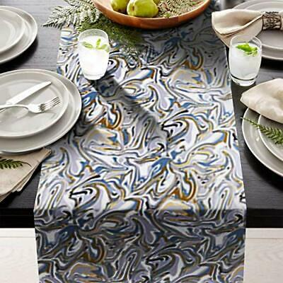 "Blue weave Table Runner 14"" X 108"" Print  great for table setting contemporary"