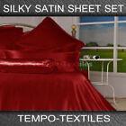Satin Flat Sheets Bedding Sheets