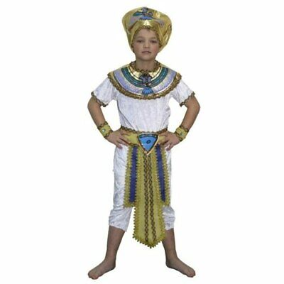 BOYS EGYPTIAN PHARAOH ANCIENT KING FANCY DRESS COSTUME CHILD'S HISTORIC OUTFIT