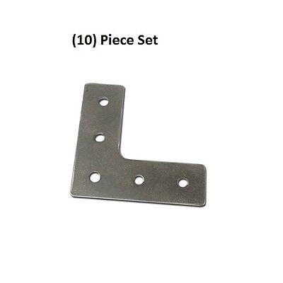 10x Aluminum 90 Degree Joining Plates L Shape External Bracket On 8020