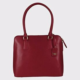 L.CREDI Women's Antonia Shopper Hand Bag Dark Red