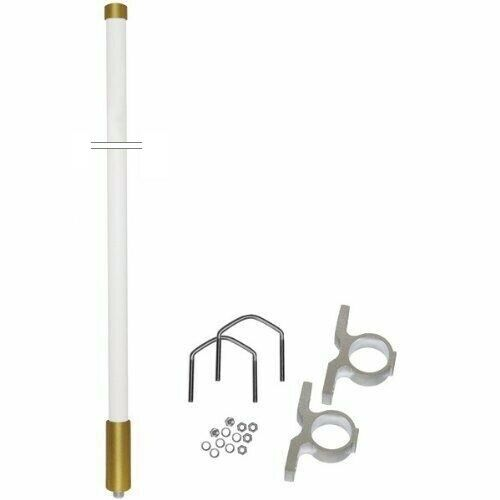 Omnidirectional Base Fiberglass Radio Antenna VHF 146-167 MHz 2dBd N Female