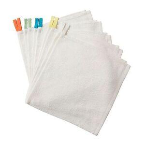 10-x-IKEA-KRAMA-Washcloth-White-Face-Cloth-Flannel-NEW