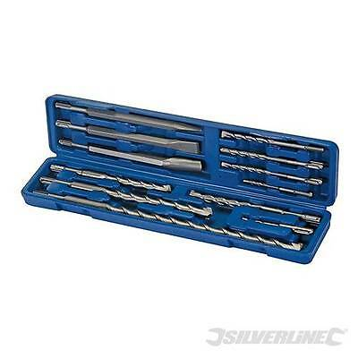 Offer Silverline Sds Plus Masonry Drill Steel Set 12pce In Sturdy Case