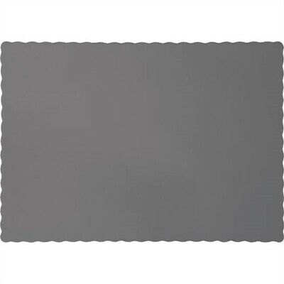 Glamour Gray Paper Placemats 50 Pack Table Paperware Birthday Party Decorations - Gray Paper Plates
