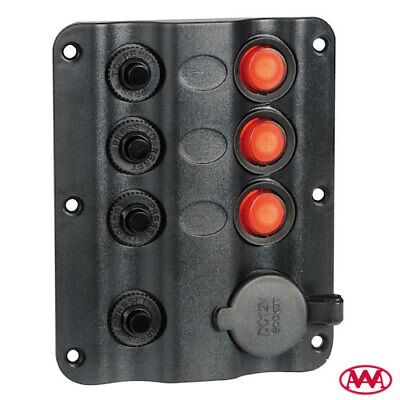 Cuadro Eléctrico 12V Wave 3 Interruptor + Toma Encendedor + Hueco