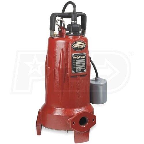 LIBERTY PUMPS LSG202A Pump,Grinder,2 HP,15a