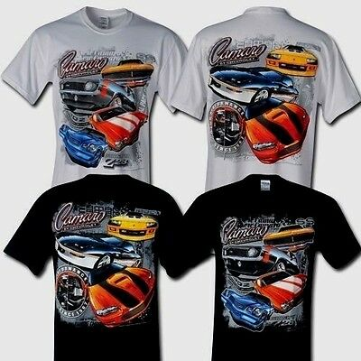 Camaro T Shirt Z28 Ss Iroc Z Multi Generation Blackorwhite S Xl22 99 2X3x Fs New