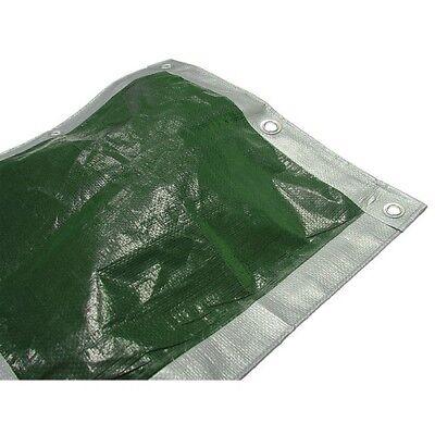Faithfull FAITARP1818H Tarpaulin Green/Silver Heavy-Duty 5.4m x 5.4m