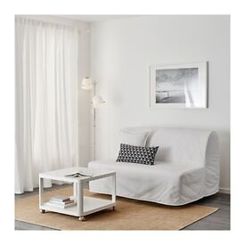 Sofa bed Two-seat Model LYCKSELE HÅVET White