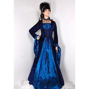 Stunning Ladies Medieval Renaissance Gown Dress Costume Maid Marion High Quailty