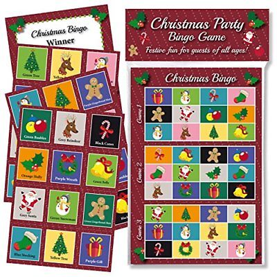 CHRISTMAS PARTY BINGO GAME FUN  GAMES FOR FAMILY, OFFICE AND KIDS XMAS PARTIES