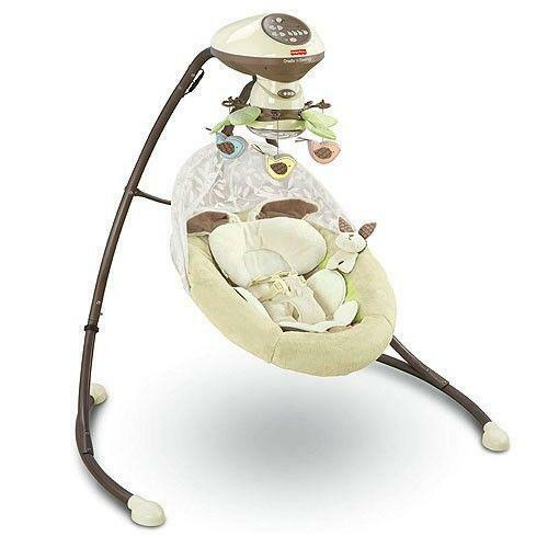 Fisher Price Cradle Swing Snugabunny Ebay