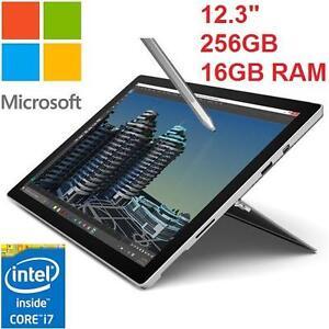 "NEW OB MICROSOFT SURFACE PRO 4 - 117684540 - 12.3"" 256G WINDOWS 10 Intel Core i7-6650U  16GB RAM  TABLET OPEN BOX ITEM"