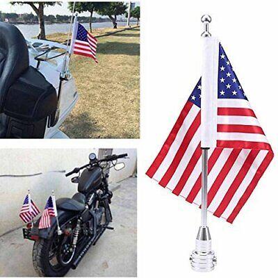 2x universal motorcycle american usa flag pole