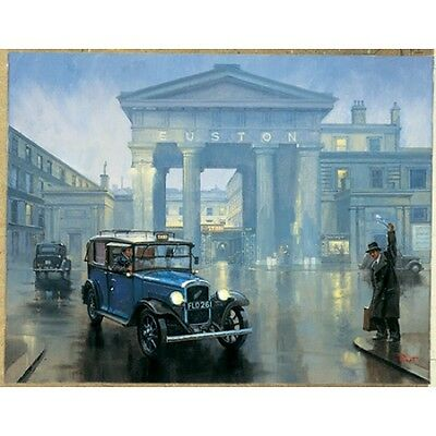 Euston Station (LMS Euston Station London Taxi Engine Railway Train Birthday Christmas Xmas Card)