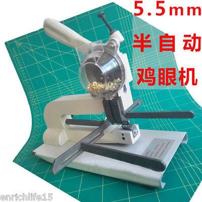 5.5mm Semi-automatic File Bag Eyelet Punching Machine Desktop Buttonhole Machine