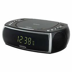 Jensen CD Player Digital Dual Alarm Clock AM/FM Stereo Radio AUX LED Display