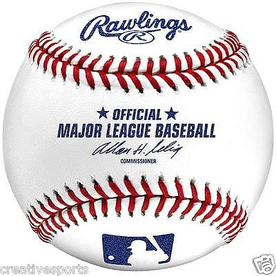 1/2 DOZEN - QTY 6 - MLB RAWLINGS OFFICIAL MAJOR LEAGUE BASEBALLS * SELIG * SALE