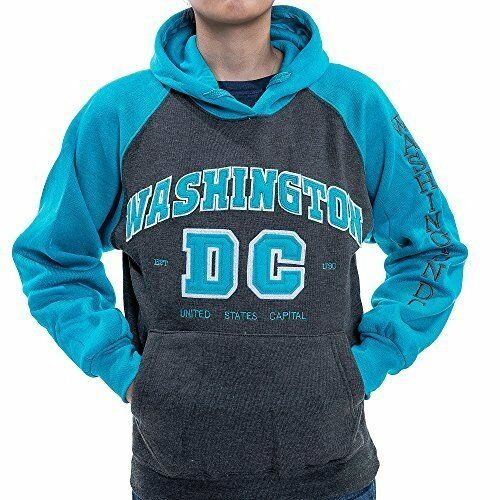 Washington DC Charcoal-blue Hoodie Sweatshirt with Letters Unisex