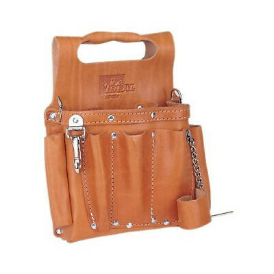 Ideal Electrical 35-950 Premium Tuff-tote Leather Pouch Wstrap Tan