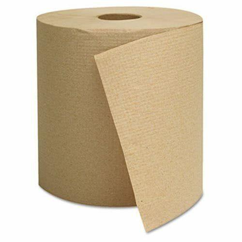 GEN 800 ft Brown Hard Roll Paper Towels, 6 Rolls/Carton (GEN1825)