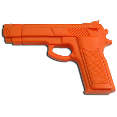 """7"""" ORANGE RUBBER TRAINING GUN Police Dummy Non Firing Real Look and Feel"""