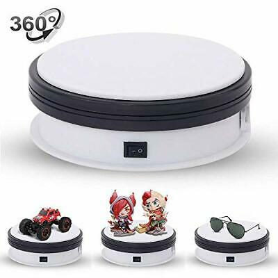 Electric 360 Degree Rotating Turntable Display For Jewellery Watch - 6 White