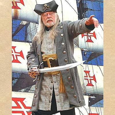 Pirate Clothing (PIRATE BUCCANEER Swashbuckler CAPTAINS Wool COAT JACKET Costume Apparel LARP)