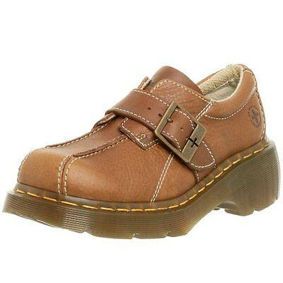 Dr. Martens Womens Club Monk Buckle Strap Slip On Shoes brown US 6 EU 37 UK