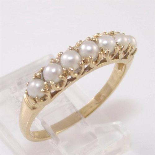 gold pearl ring ebay