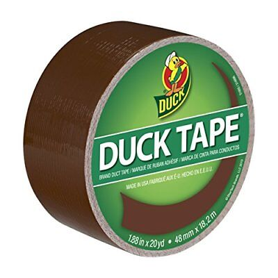 Duck Brand 1304965 Color Duct Tape, Brown, 1.88 Inches x 20 Yards, Single Roll - Brown Duct Tape