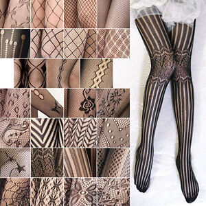 Sexy-Black-Women-Fishnet-Net-Pattern-Jacquard-Pantyhose-Tights