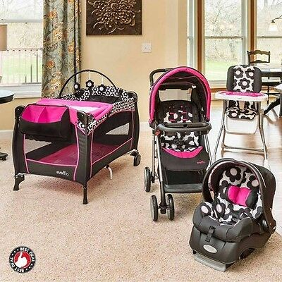 Baby Stroller And Car Seat Combo For Girl Infant Playard Portable Babysuite Crib