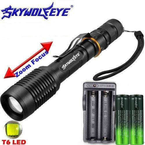 Tactical 150000LM T6 Multifunctional Flashlight LED Torch Camp military bright