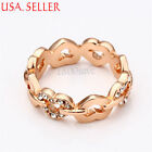 Love & Hearts Rose Gold Filled Fashion Rings