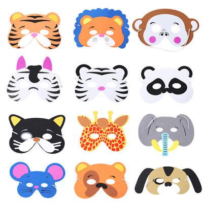 12Pcs/Set Kids Cosplay Halloween Animal Head Masks Zoo Party Dress Costume Props](Zoo Animal Halloween Costumes)