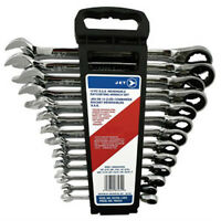 13 PC Long S.A.E. Reversible Ratcheting Combination Wrench Set