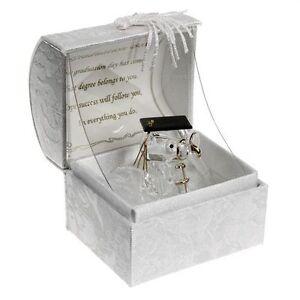 Graduation Gift Keepsake Crystal Owl Teddy with Poem box Graduation Present