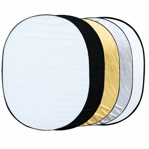 """5 in 1 collapsible reflector oval photo studio 90 x 120 cm (35 """"x 47"""