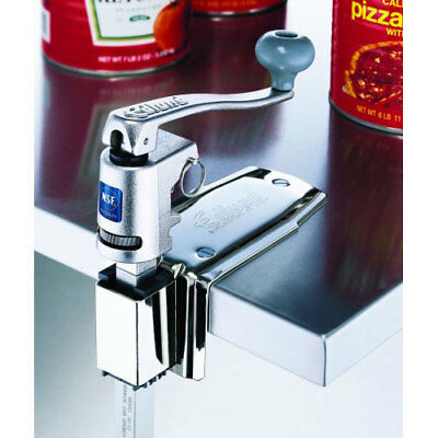 Commercial Standard Large Height Manual Can Opener - Stainless Steel Clamp Base