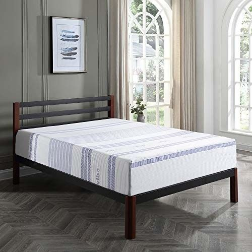 Vibe 12Inch Gel Memory Foam Mattress Bed in a Box Mattress O