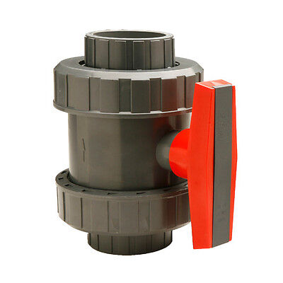 1 Gray Pvc True Union Ball Valve - Schedule 40 80 - Threaded And Slip Weld
