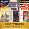 NEW WORLDS Science Fiction Pulp Magazines 126 Rare Vintage Magazines on Data DVD