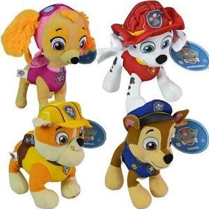 Paw-Patrol-8-034-Plush-Stuff-Toy-Set-of-4-Chase-Rubble-Marshall-Skye-Gift-Idea