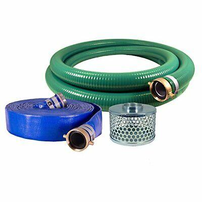 Eagle Hose Pvcaluminum Watertrash Pump Hose Kit 2 Green Suction Hose Coupled