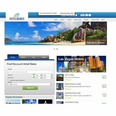 Travel Search Engine Turnkey Website  Huge Income Potential  100  Automated