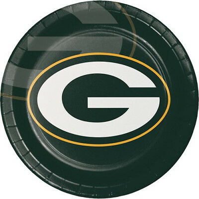 NFL GREEN BAY PACKERS LARGE PAPER PLATES (8) ~Birthday Party Supplies Luncheon (Packer Party Supplies)