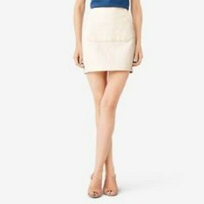 KATE SPADE SATURDAY SQUARE POCKET FRONT COTTON STRETCH DENIM MINI SKIRT~4 /SMALL